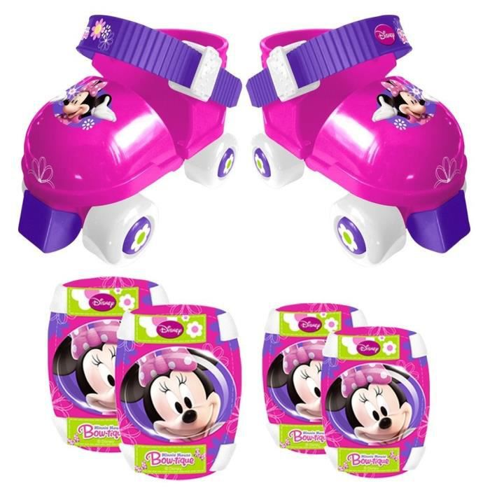 MINNIE Set Patins à Roulettes et Protections