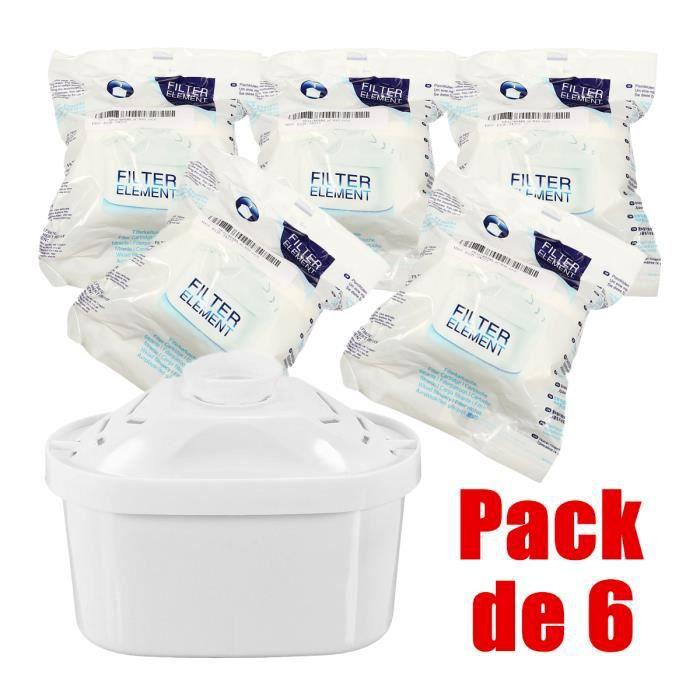 Pack de 6 Cartouches Filtres Kit pour Brita Maxtra Carafe Filtrante Bouilloire Pièce de Rechange