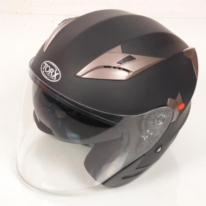 Casque bol jet Torx Matt 3 taille L coloris noir mat moto scooter quad Neuf