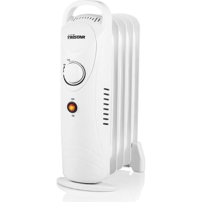 TRISTAR Chauffage électrique radiateur à bain d'huile 5 éléments 500 W