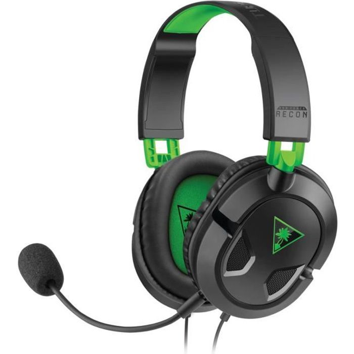 Turtle Beach Micro-Casque Gamer RECON 50X Filaire - Xbox One/PS4/PC/Mobile