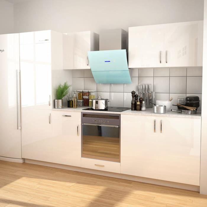 Ensemble de placards de cuisine 270 cm Blanc laqué