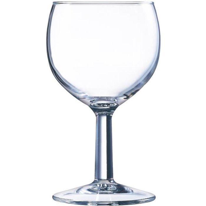 Lot de 12 verres pied pour Eau en verre - 25 cl