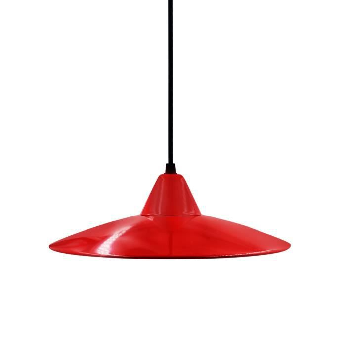 abat jour suspension rouge m tal lampe plafond suspension luminaire cuisine retro moderne lampe. Black Bedroom Furniture Sets. Home Design Ideas