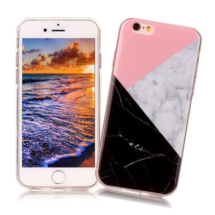 coque marbre iphone 6s 6 silicone marble etui coul