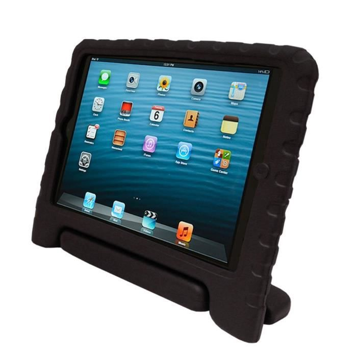 coque protection enfant pour ipad mini khomo noir prix pas cher cdiscount. Black Bedroom Furniture Sets. Home Design Ideas