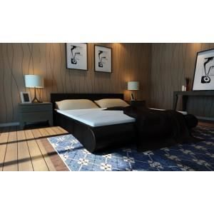 lit double 180x200 cm noir avec sommier et matelas achat. Black Bedroom Furniture Sets. Home Design Ideas