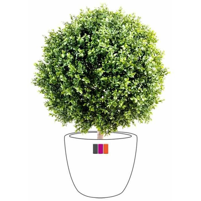 Buis artificiel boule 22cm plante ext rieur achat for Pot exterieur couleur