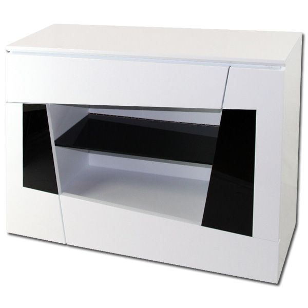 meuble d entr e laqu blanc origami achat vente petit. Black Bedroom Furniture Sets. Home Design Ideas