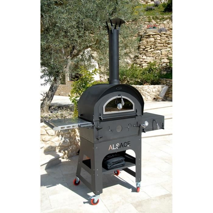 Four et barbecue de jardin multifonctions vulcano 3 for Four barbecue exterieur