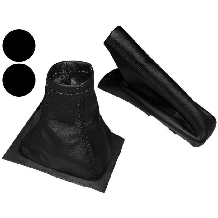 AERZETIX Soufflet de Levier Vitesse Frein /à Main en Cuir v/éritable Couture Noire