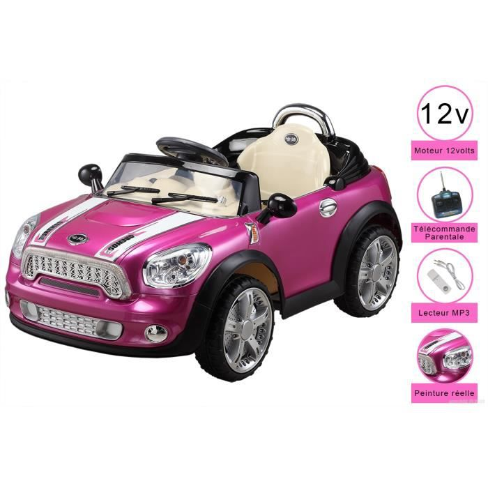 voiture electrique pour enfant 12 volts t l comm achat. Black Bedroom Furniture Sets. Home Design Ideas
