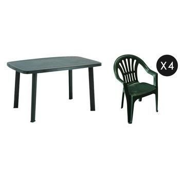 table jardin plastique les bons plans de micromonde. Black Bedroom Furniture Sets. Home Design Ideas