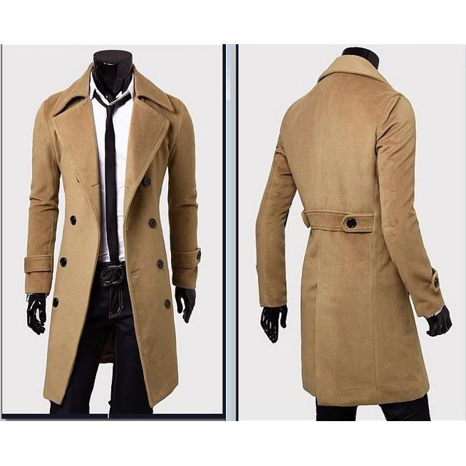 long manteau trench veste ville homme mister beige beige achat vente manteau caban long. Black Bedroom Furniture Sets. Home Design Ideas