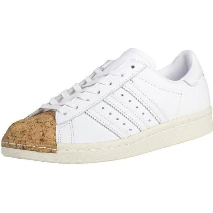 Chaussures Adidas Superstar 80S Cork W Blanc - Achat / Vente
