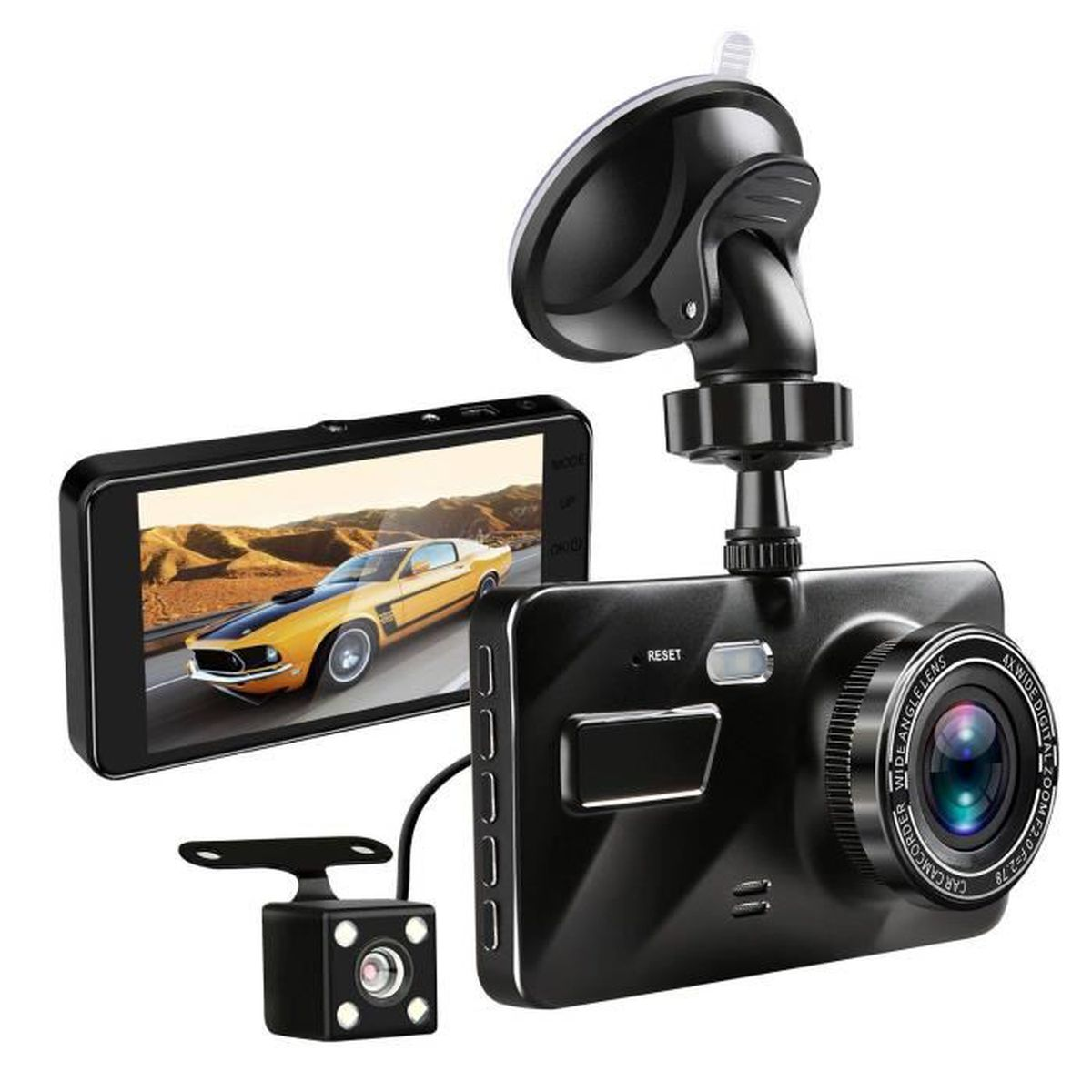 Enregistrement en Boucle d/étection de Mouvement Dashcam Cam/éra de Voiture Full HD 1080P avec Objectif Grand Angle 170/° /Écran LCD 2,45 Pouces Vision Nocturne G Capteur de stationnement