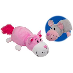 FLIP-A-ZOO Chat Rose-Souris 2-en-1