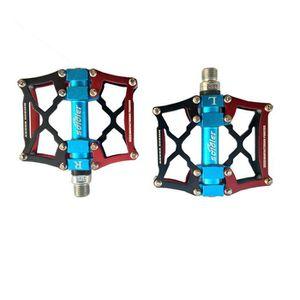 SGODDE P/édale VTT V/élo BMX Route Cyclisme Pedales Plates Anti-Glissant 9//16 en Alliage Aluminium Plate Forme 3 Roulement Scell/é