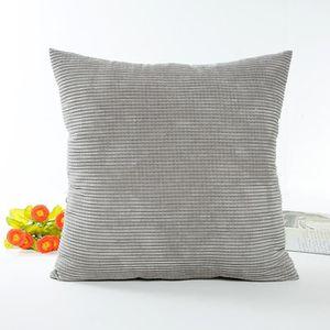 COUSSIN 65x65cm classique en coton à rayures fibre de poly