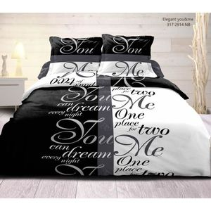 drap de lit noir et blanc achat vente drap de lit noir. Black Bedroom Furniture Sets. Home Design Ideas