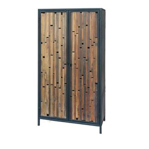 armoire metal bois achat vente armoire metal bois pas cher cdiscount. Black Bedroom Furniture Sets. Home Design Ideas