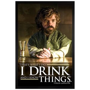AFFICHE - POSTER Poster 61x91,5cm cadre en bois noir Tyrion - I Dri