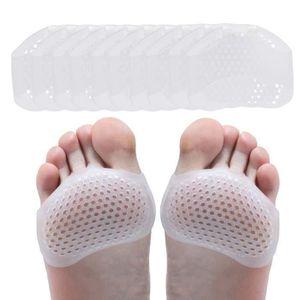 Demi Semelle Silicone Avant Pied pour un Soulagement Rapide De La Douleur 4 PCS Demi Semelles Talon Haut pour Femme Semelles Chaussures Trop Grandes