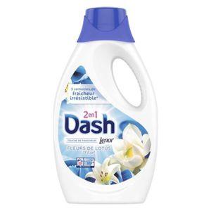 LESSIVE Dash Lenor Liquide Fleurs De Lotus et Lys 1,265L (