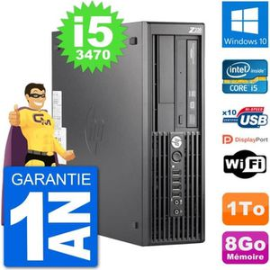 UNITÉ CENTRALE + ÉCRAN PC HP WorkStation Z220 SFF Core i5-3470 RAM 8Go Di