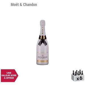 CHAMPAGNE Champagne Ice Impérial Blanc - Lot de 6x75cl - Moë