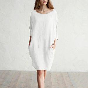 Robe Femme Lin Et Coton Free Shipping D12a2 7d717