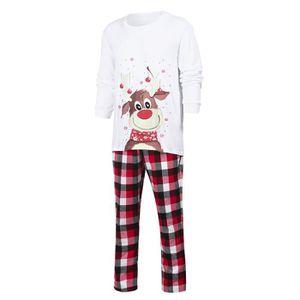 Adult Pyjamas Unisexe Hommes Renne Femme Flocon de neige Arbre pyjama Noël XS à XL