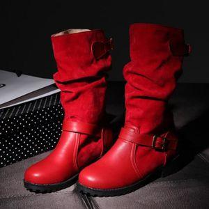 BOTTE Dames femmes extra-large boucle-Strap Chaussures C