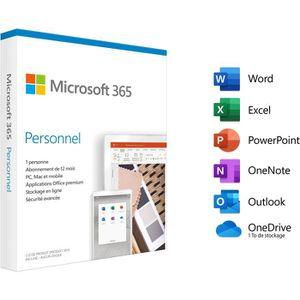 BUREAUTIQUE Microsoft 365 Personnel - 1 utilisateur - PC ou Ma