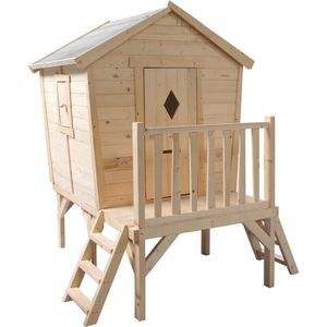 MAISONNETTE EXTÉRIEURE Cabane en bois pour enfant  LOUANE