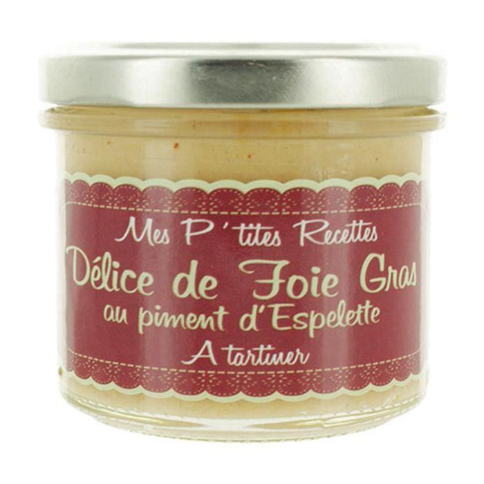 Délice de foie gras au piment d'Espelette - France - Mes P'tites Recettes - pot 100g
