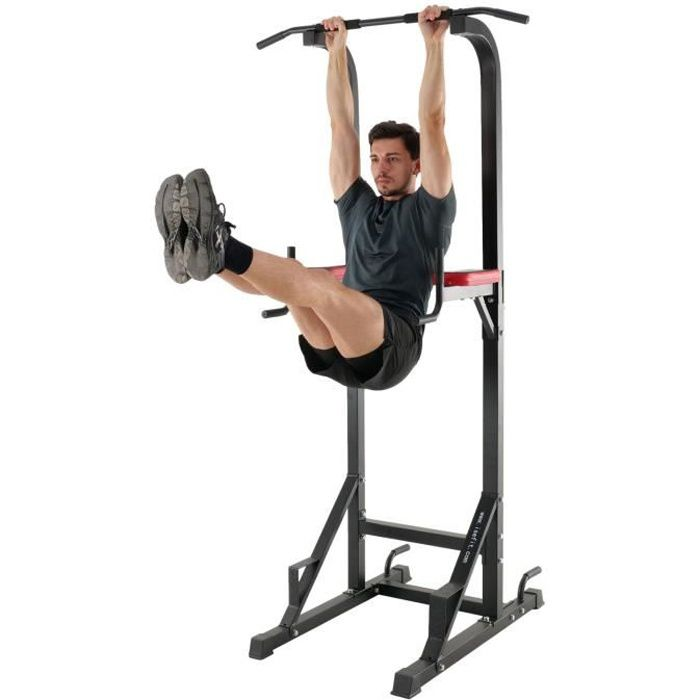 ISE Chaise Romaine Station Traction dips Multifonctions Barre de Traction dips Banc de Musculation Power Tower SY-5607