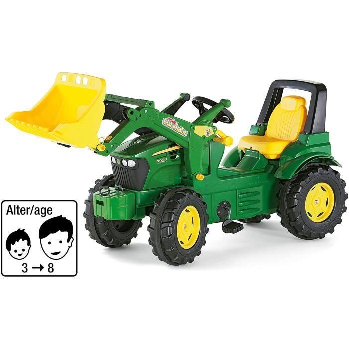 Vélos et véhicules pour enfants ROLLY TOYS - 71 002 7 - Tracteur À Pédales - Rollyfarmtrac John Deere 7930 + Pelle Avant 34773