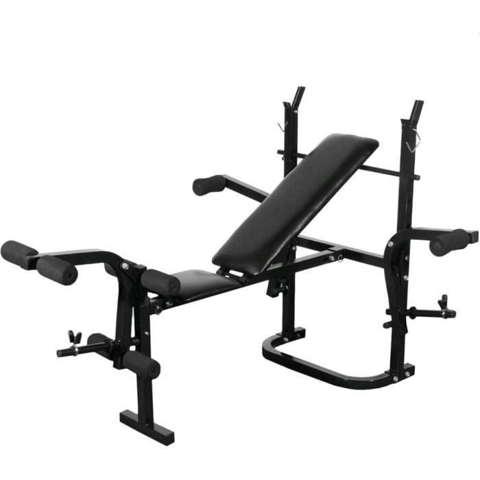 vidaXL Banc de Musculation Complet Appareil Pliable Fitness Salle de Gym57