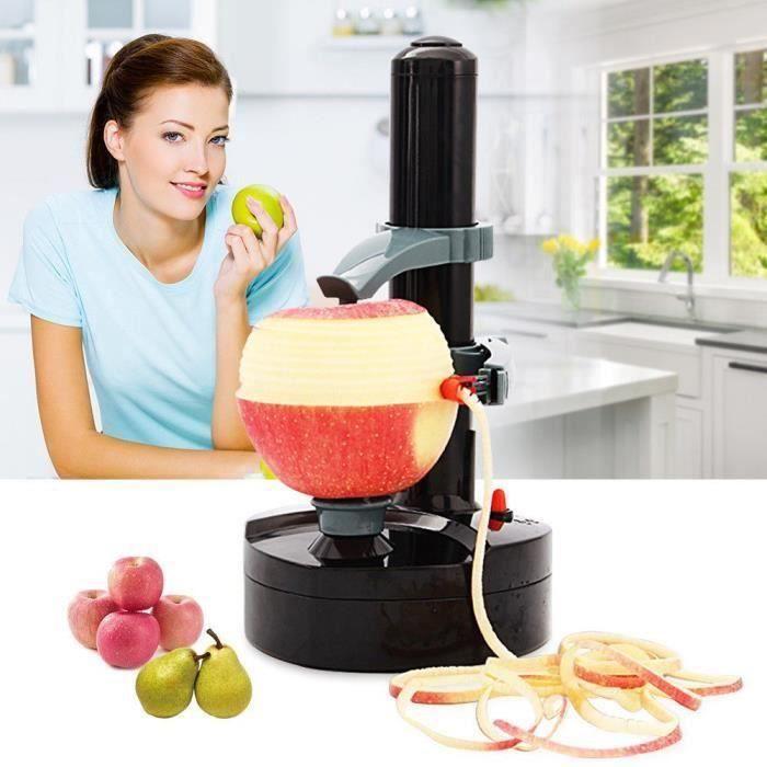 Éplucheur Electrique avec Adaptateur,Multifonction Cuisine Automatique Épluche pour Pommes de Terre,Fruits et Légumes