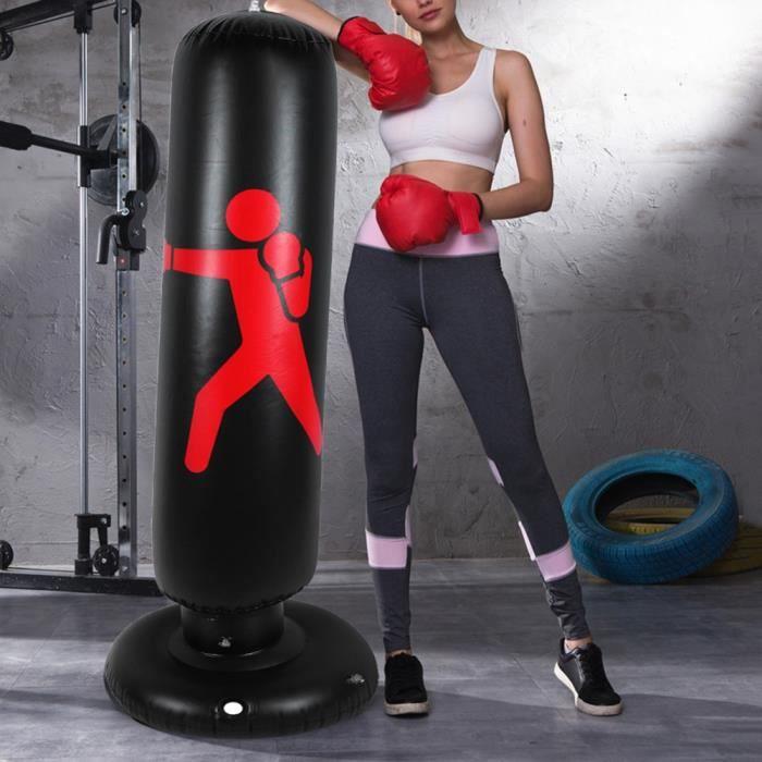Sac de Frappe Autonome de Boxe Culbuteur d'entraînement Gonflable sur Pied pour Adultes Enfants 160cm BOH