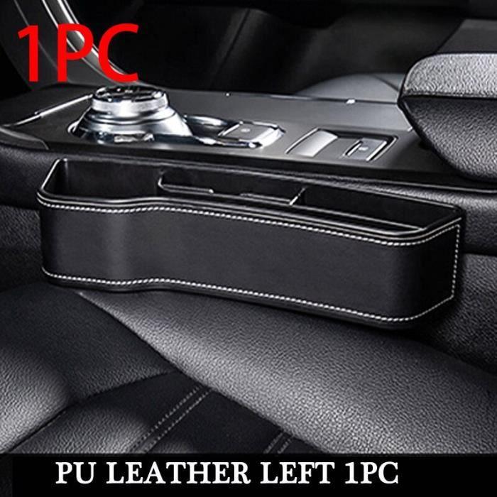 Rangement,Siège de voiture Gap boîte de rangement intérieur Auto siège fente organisateur boîte universel PU - Type PU Left 1pc