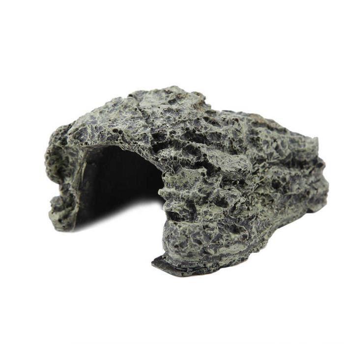 Décoration - aquarium,Grotte de cachette pour Reptiles, lézard, serpent, tortue, se reposer, maison, se prélasser, cacher, - Type S