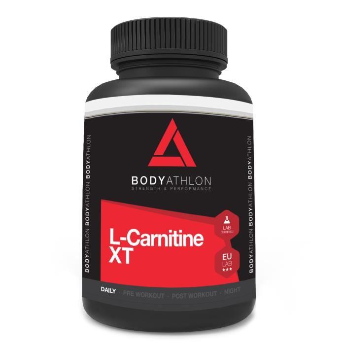 Bodyathlon L-Carnitine Extreme XT - 90 gélules 750 mg - Bruleur de Graisses Extra Fort