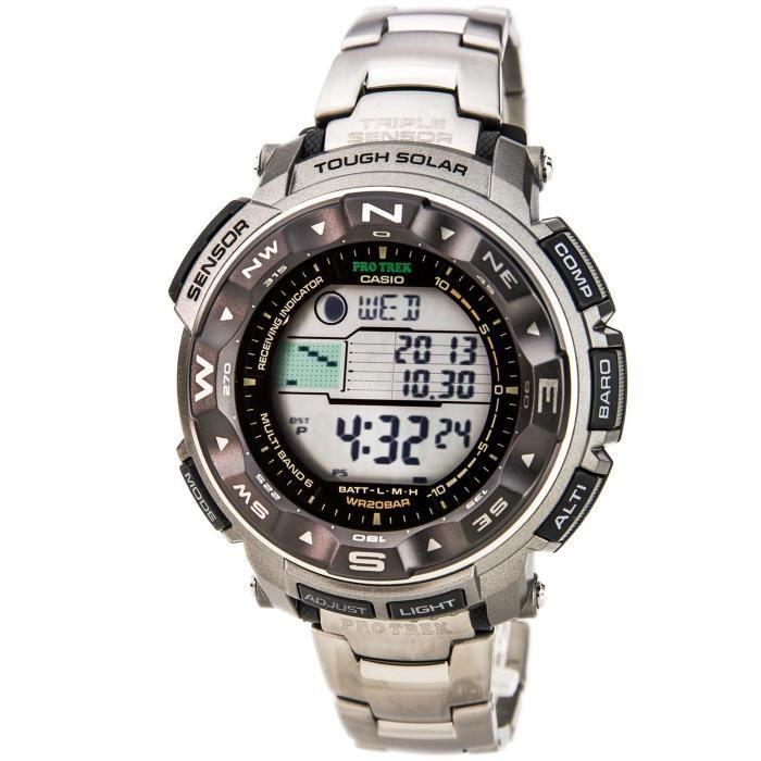 Montre Bracelet CASIO Femmes Protrek PRW2500T-7 multibande atomique solaire Wristwatch BJSMJ