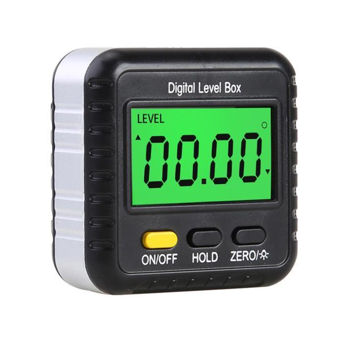 Jauge de recherche d'angle numérique Mini inclinomètre de rapporteur numérique à 360 degrés Boîte de niveau électronique Cube d'an
