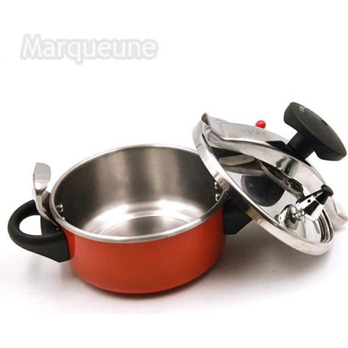 Autocuiseur Marqueune-mini-Acier Inoxydable,Capacité :2 litres--Orange
