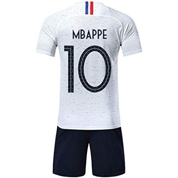 Ensemble de Sport Garçon T-Shirt Champion Enfant 2018 France Top et Short Sport Football