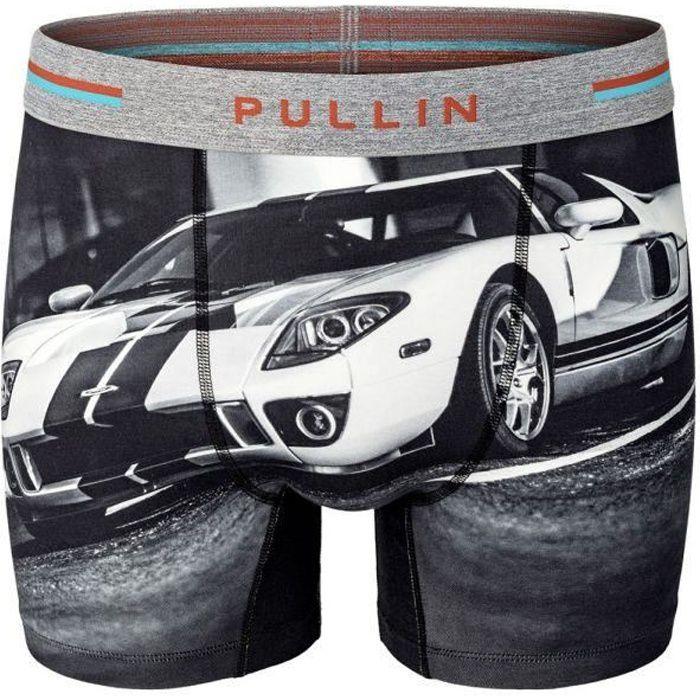 PULL IN Boxer Long Homme Coton Bio GT Noir Gris