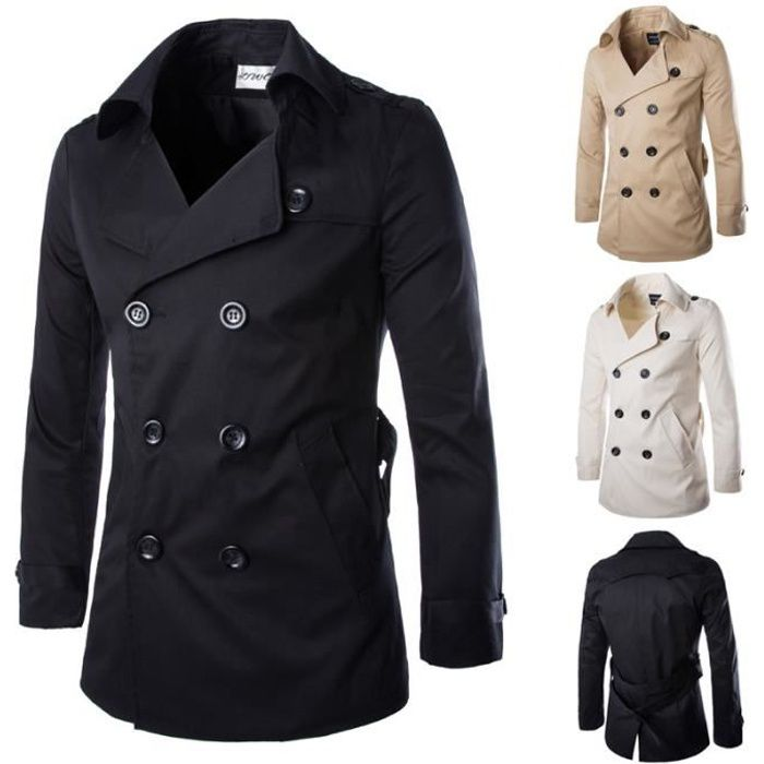 Trench homme Couleur unie M